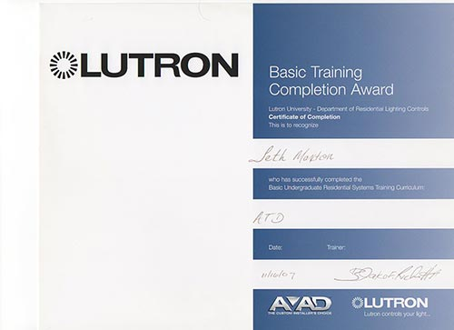 Certifications : San Diego\'s home theater, URC, RTI, Crestron ...