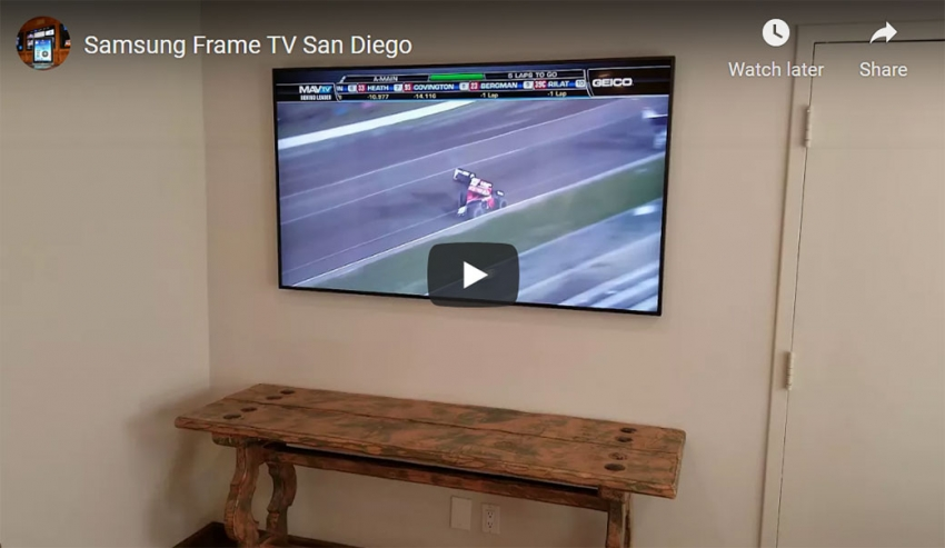 Samsung Frame TV San Diego Installation - Project of the Day